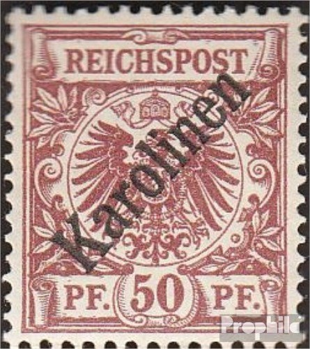 Prophila Collection Carolinas (alemán.Colonia) 6I Diagonal sobretasa 1900 emisión de sobrecarga (Sellos...