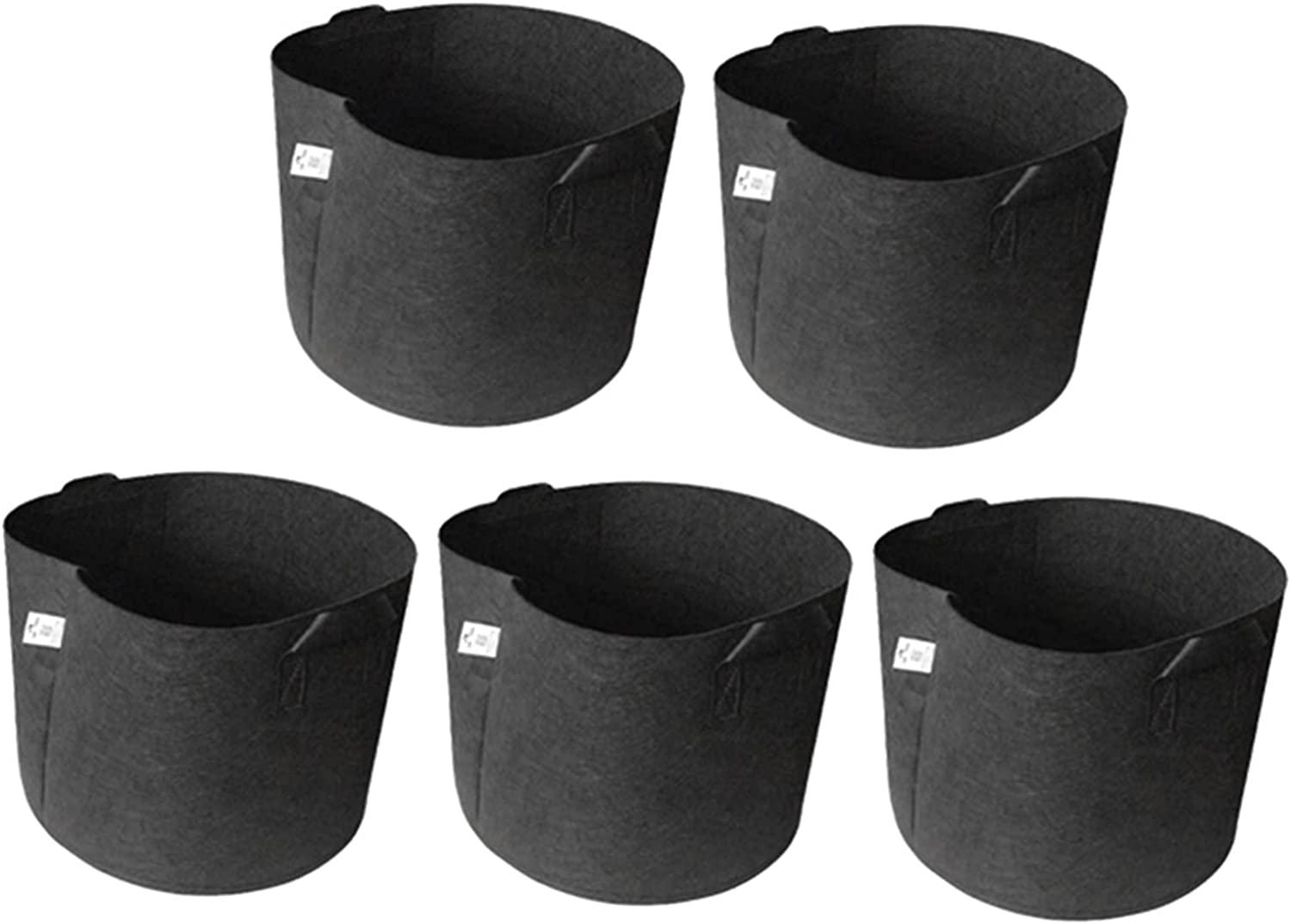 Xiaobaicai Max 43% OFF 5-Pack Heavy Duty Thickened Nonwoven Pots 5 ☆ popular Grow Fabric