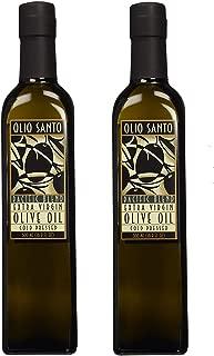 Olio Santo Extra Virgin Olive Oil 16.9 Ounce (2 Bottles)