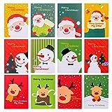 30 Unids Mini Bloc de Notas de Navidad Cuadernos de Bolsillo Portátiles para Niños Papá Noel, Muñeco de Nieve, Libro de Notas con Patrón de Renos Gran Relleno de Bolsa de botín de fiesta, 12 estilos