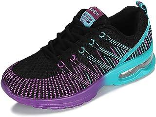 ZLYZS Zapatos para Correr para Mujer, Zapatos Deportivos Transpirables De Malla Zapatos para Caminar De Moda Zapatillas De...