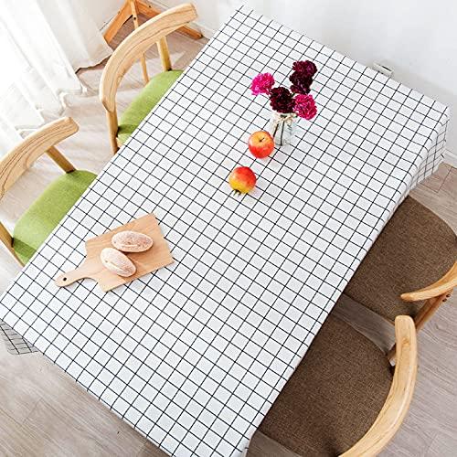 LIUJIU Mantel rectangular impermeable de PVC, a prueba de aceite, a prueba de derrames, mantel de vinilo, para mesa de comedor, buffet fiestas y camping, 90 x 90 cm