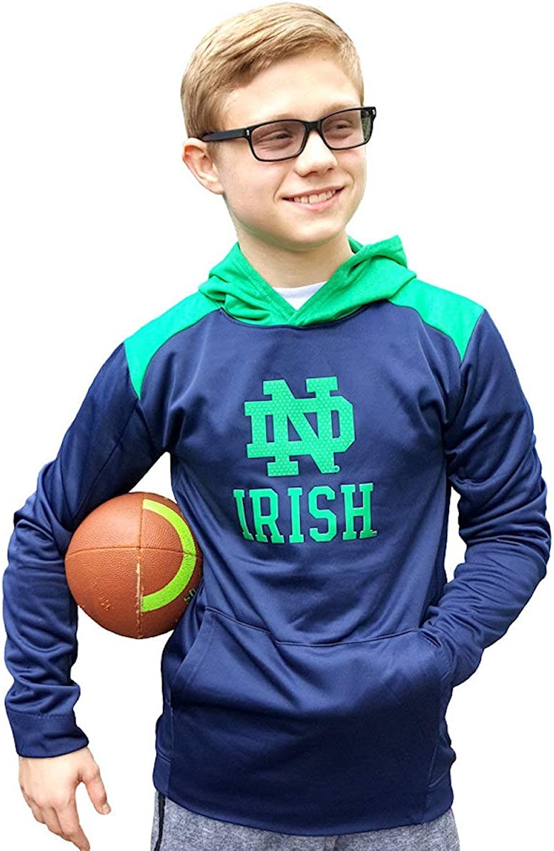 Outerstuff Notre Dame Fighting Irish Youth Blue/Green Sweatshirt Hoodie