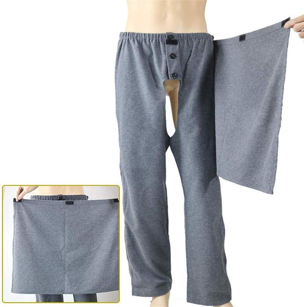 D F Pantalones Abiertos Para El Cuidado Del Paciente Con Cremallera Lateral Para Incontinencia Para Ancianos Y Discapacitados L Amazon Es Deportes Y Aire Libre