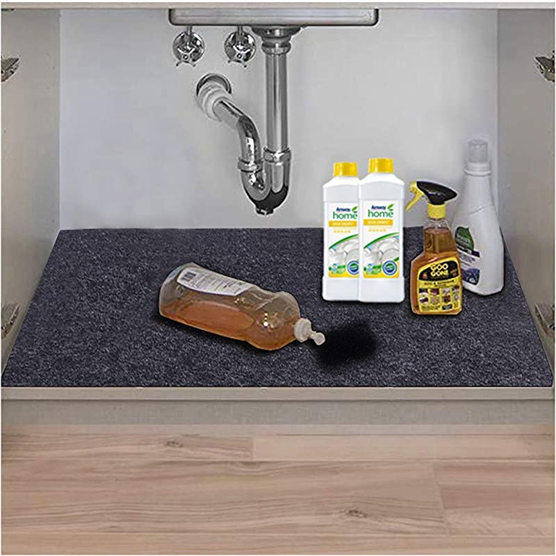 Under The Sink Mat Kitchen Tray Drip Cabinet Liner Fabric Layer Waterproof Layer Reusable Washable 36inches X 24inches