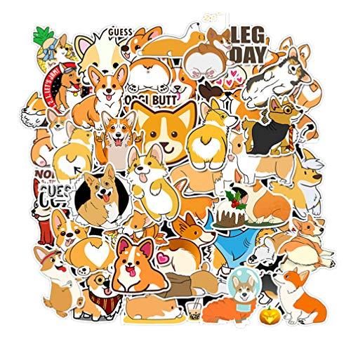 Supvox 100pcs Corgi Aufkleber Selbstklebende Cartoon Aufkleber wasserdicht dekorative Aufkleber für Gepäck Autokoffer