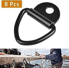 Paquete de 8 anclajes de amarre de carga Reemplazo del anclaje del remolque Bolton del anillo en V de 2 de di/ámetro para el anillo en D Montaje de empotrar de pl/ástico Sujetador de amarre para camion