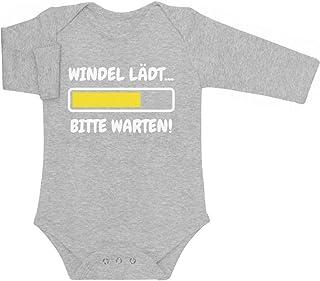 Shirtgeil Windel Lädt, Bitte Warten! - Lustige Babykleidung Baby Langarm Body