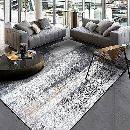 HJXSXHZ366 Alfombra rectangular retro simple para dormitorio, sala de estar, cocina, tinta, color gris oscuro, terciopelo corto (color: B, tamaño: 45 x 115 cm)