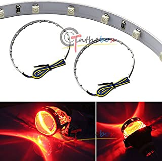 GTinthebox (2) Xenon 15-SMD High Power LED Demon Eye Halo Ring Kit For Headlight Projectors or 2.5