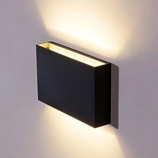 DAWALIGHT Applique Murale Exterieur Interieur 12W LED Moderne Étanche IP65 Applique Up Down Design, 3000K Blanc Chaud Lamp...
