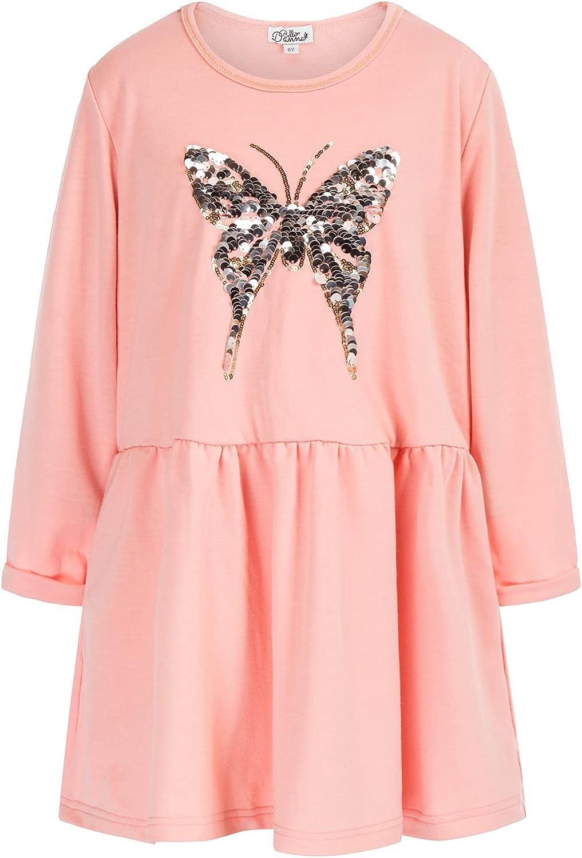 Danna Belle Girl Long Sleeve Tunic Dress Fall Dresses for Girls School Dress Size 5-12 Solid