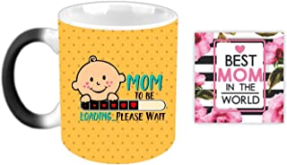 YaYa cafe Mothers Day Gifts for Pregnant Women Mom to Be Magic Coffee Mug with Coaster