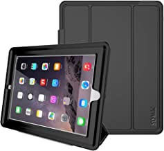 iPad 4th Generation Case, iPad 2/3/4 Case,SEYMAC Stock Shockproof Heavy Duty 3 Layer Case, Drop Proof Auto Sleep Smart Cover Protective Magnetic PU Leather Stand for iPad 4th/3rd/2nd Generation(Black)