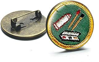 Spilla Distintivo Spilla Cupola Di Vetro Bronzo Spille Artigianali Neonate