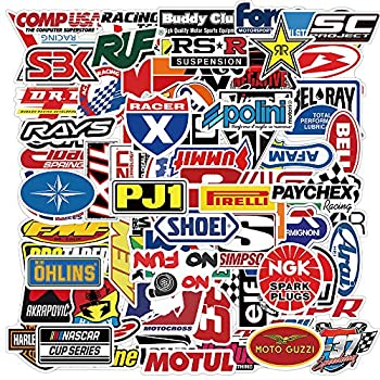 100PCS Racing Car Modified Brand Logo Stickers Waterproof Vinyl Stickers for Laptop Motorcycle Car iPhone Skateboard Graffiti Decal