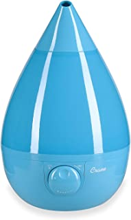 Crane Ultrasonic Cool Mist Humidifier, Filter-Free, 1 Gallon, for Home Bedroom Baby Nursery and Office, Aqua