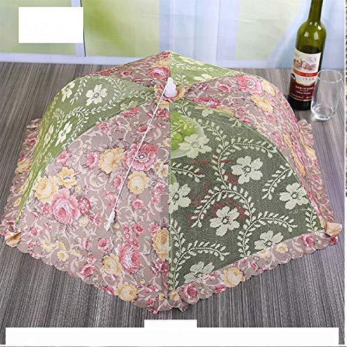 LIZHENG Cocina Plegable Cubierta De Comida Carpa Paraguas Campamento Al Aire Libre Cubierta De Pastel Red De Malla De Encaje 1 Uds/Verde