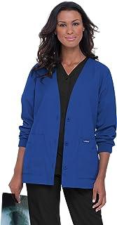 Landau Essentials 5-Pocket Cardigan Style Warm-Up Scrub Jacket for Women