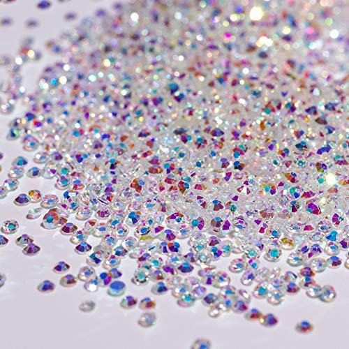 10000PCS Rhinestones Iridescent Crystals Long Lasting AB Shine Like Swarovski for Nail Art Phone DIY Crafts& Nail Beauty Makeup Decoration(Gel Glue Need)
