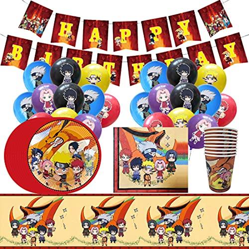 Among US Partygeschirr Geburtstag, Dazu gehören Teller, Papiertuch, Messer, Gabel, Tasse, Tischdecke und Alles Gute Zum Geburtstag Pull Flag, Among US Tischdeko Partygeschirr Set - 10 Personen
