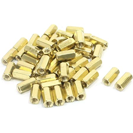 uxcell 100Pcs Insulation Hex Hexagonal Threaded Spacer Support M3 Thread Dia