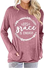 NANTE Top Loose Women's Blouse His Grace is Enough T Shirt Funny Christian Graphic Faith Tee Shirts Religion Tops Womens Clothes Clothing