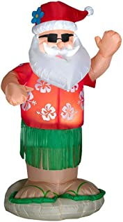 Airblown Animated Santa Dancing Hula Christmas Yard Inflatable Garden Decoration, 6-Ft