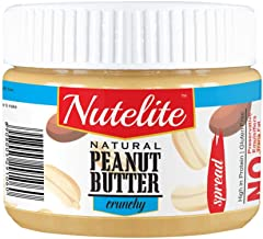 Nutelite Natural Peanut Butter (Spread) - Crunchy,  340 g