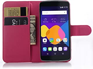 Alcatel idol 3(4.7 inch) Wallet Case, Premium PU Leather Flip Folio Wallet Case with Card Slot, Stand Holder and Magnetic Closure [TPU Shockproof Interior Case] for Alcatel idol 3(4.7 inch)