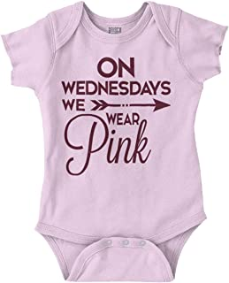 on wednesdays we wear pink baby onesie