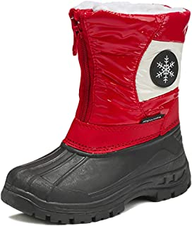 iDuoDuo Kids Toddler Little Boys Bright Colored Toggle Thickening Plush Cold Weather Snow Boots Size 6-12