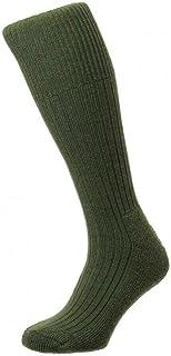 HJ Hall Commando HJ3000 Wool Rich Military Boot Walking Socks/UK Sizes 3-6, 6-11 and 11-13 / Black, Olive, Airforce, Grana...
