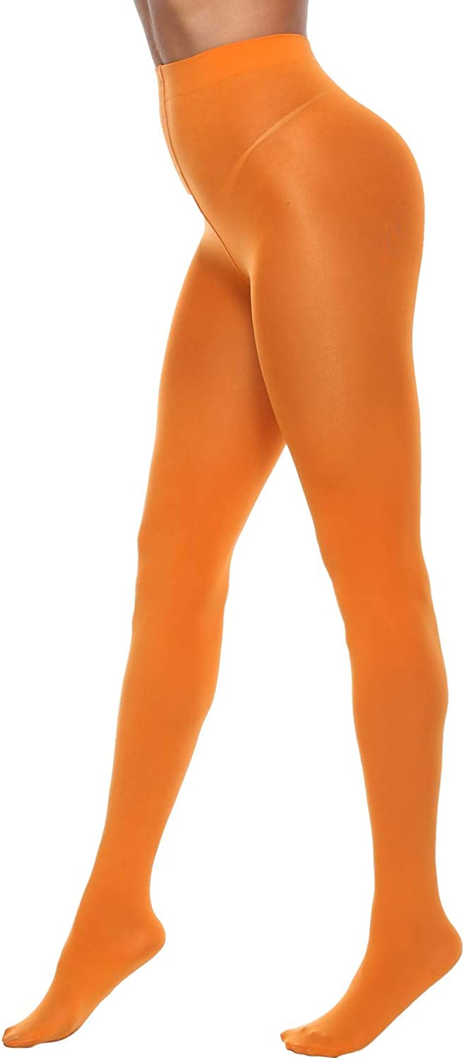 MANZI Tights for Women Solid Color Semi Opaque Footed Tights Soft Stretch Pantyhose 70 Denier