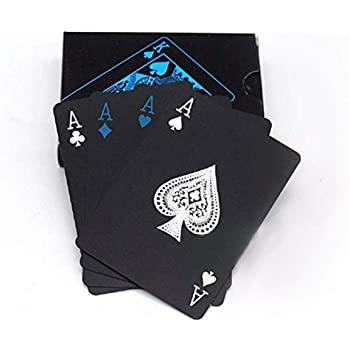 Gooyo Black Unique Good Quality Waterproof Mat Finish Plastic Deck Rummy|Poker Playing Pack of Card