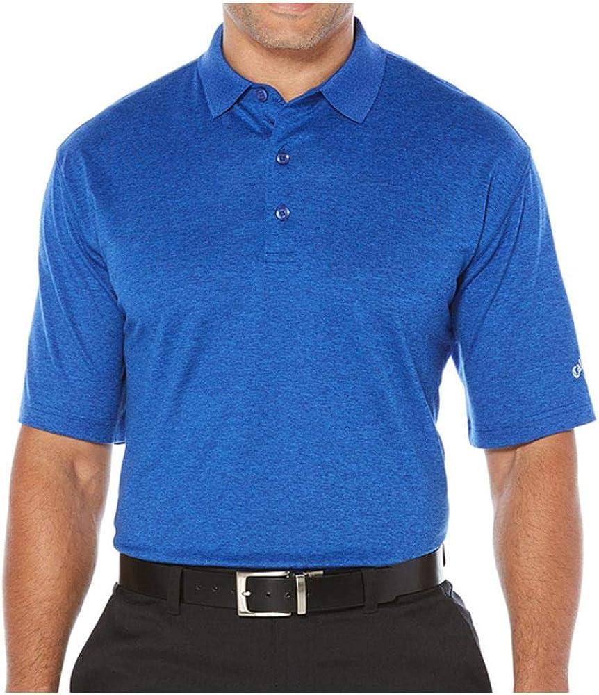 Callaway 毎日続々入荷 Men's Opti-Soft Short Heathered Polo Sleeve Solid 日本