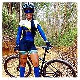 LYYJIAJU Ciclismo Skinsuit Suit Bicicletta da donna Skinsuit Cycling Triathlon Abiti tute a maniche lunghe Vestiti da bicicletta Tute (Color : B, Size : M)