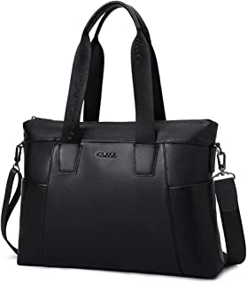 Leather Handbag, Men's Casual Shoulder Bag, Waterproof and Wearable Laptop Bag (Color : Black, Size : 44 * 9 * 31cm)