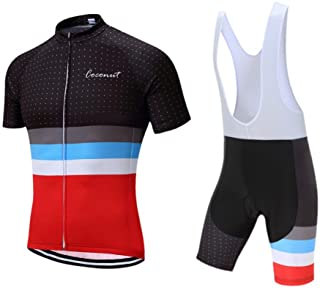 d4f3ed9e407 Men's Cycling Jersey Set Road Bike Jersye Short Sleeves Cycling Kits + Bib  Shorts with 3D
