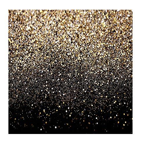 Sjoloon 11547 - Telón de fondo de vinilo para fotografía, diseño de lunares dorados, color negro y dorado