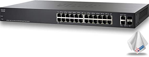 Cisco SF220-24P PoE+ Smart Switch with 24 x 10/100 Mb/s Ethernet Ports (SF220-24P-K9-NA)