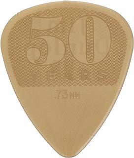 Dunlop 442P.73 50th Anniversary Nylon Pick, Gold, .73mm, 12/Player's Pack