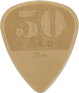 Dunlop 442P.73 50th Anniversary Nylon Pick, Gold, .73mm, 12/Player's Pack
