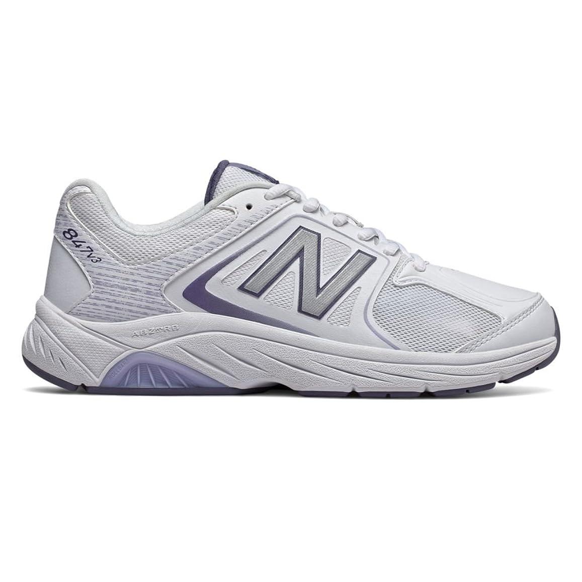 反響するもっと逆さまに[ニューバランス] レディース 女性用 シューズ 靴 スニーカー 運動靴 WW847v3 - White/Grey [並行輸入品]