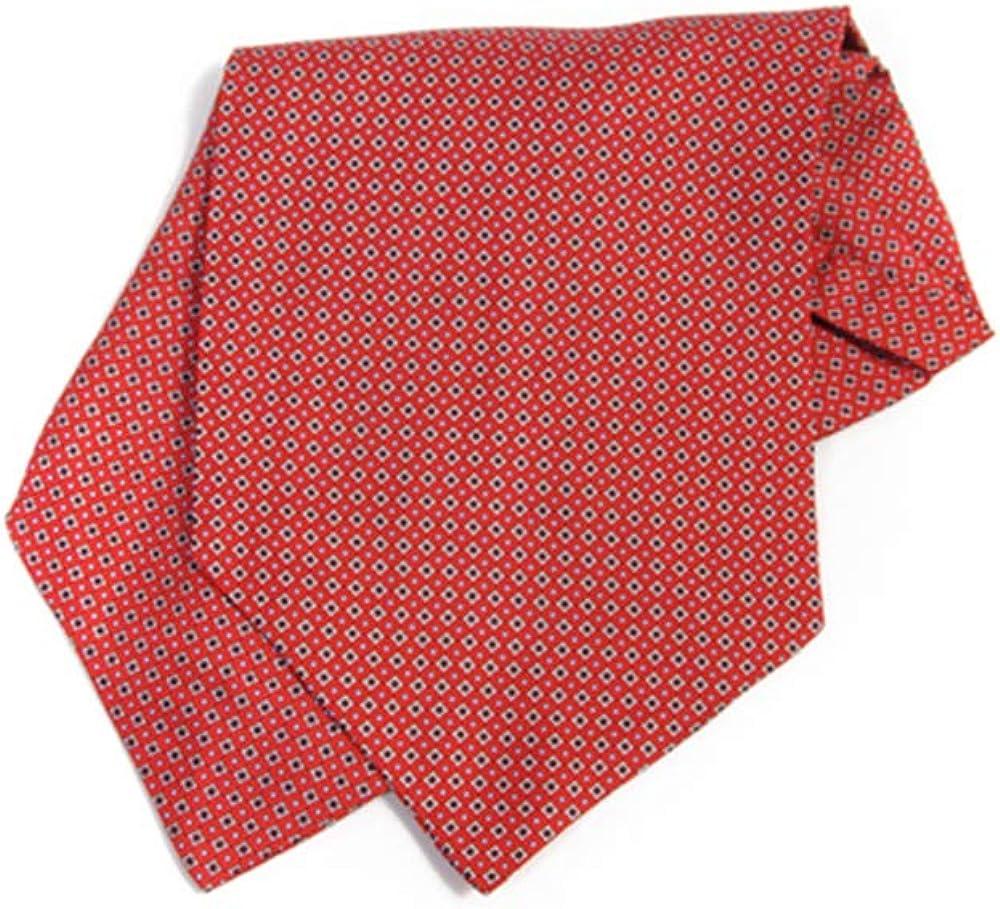 Jacob Alexander Men's Silk Geometric Classic Pattern Cravat Ascot Neck Tie