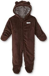 Little Wonders Infant Boys' Hooded Pram Suit Brown Bear