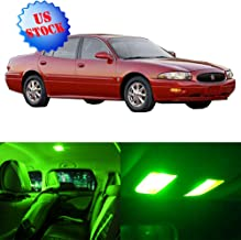 SCITOO Interior LED Lights Green Replacement for 2000-2005 Buick Lesabre Accessories Package Kit 17Pcs