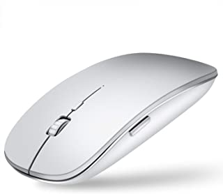 Bluetooth Mouse,Compact Wireless Mouse with Any Bluetooth Enabled Computer, Mac,Laptop,Tablet,MacBook (Silver)