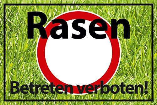 Betreten verboten Schild -542- Rasen 29,5cm * 20cm * 2mm, ohne Befestigung