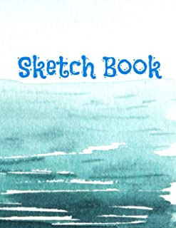 Sketch Book: Sea Notebook with Blank Paper for Drawing, Doodling, Painting, Writing, 100 Pages, 8.5x11 (Sea Desighn Volume...